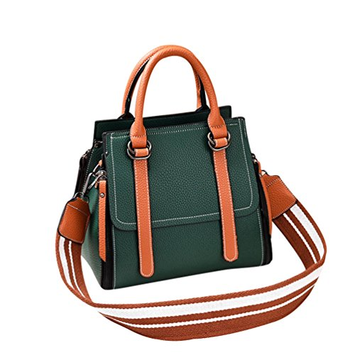 ZhiYuanAN Zipper Bucket Bags Messenger Women Shoulder Handbag amp;Earthy Shoulder Wide Green Comfortable Yellow Casual Bag Strap Fashion AfnwAqSr