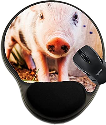 MSD Mousepad wrist protected Mouse Pads/Mat with wrist support design 19918806 Close up of a cute muddy piglet running around outdoors on the farm Ideal image for