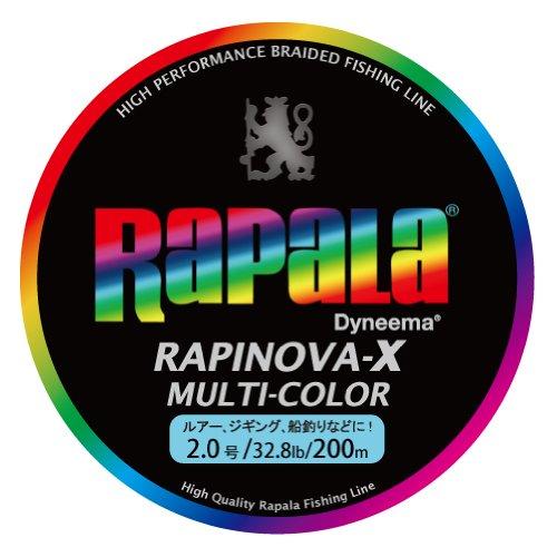 Rapala(ラパラ) PEライン ラピノヴァX マルチカラー 200m 2.0号 32.8lb マルチカラー RXC200M20MCの商品画像