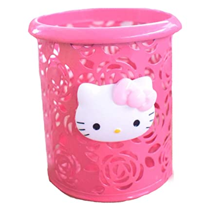 81d503f17 Amazon.com : YOURNELO Cute Hello Kitty Hollow-Out Pen Pencil Holder Desk  Organizer Accessories (Red Rose) : Office Products
