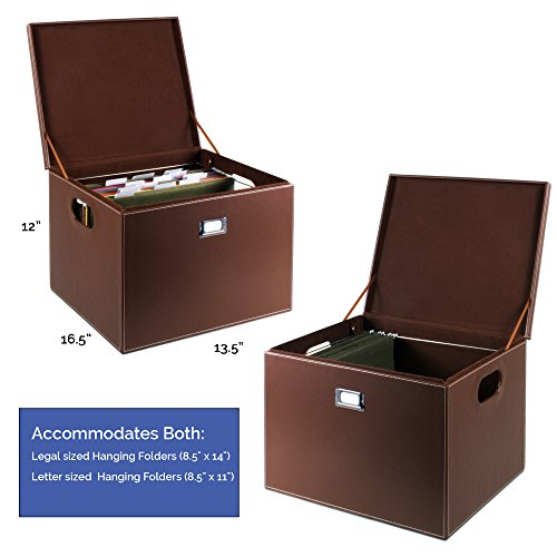 Gus decorative office file and portable storage box for for Decorative office storage
