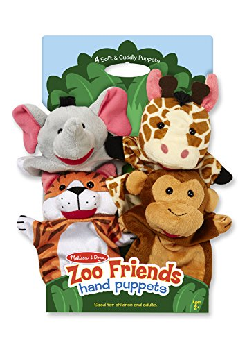 Animal Hand Puppets - Melissa & Doug Zoo Friends
