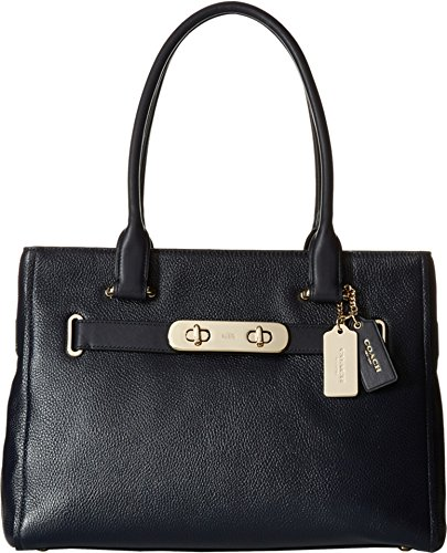 AUTHENTIC COACH POLISHED SWAGGER SATCHEL