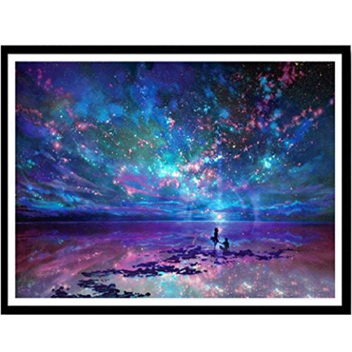 Elevin(TM) 2018Christmas 5D DIY Rhinestone Diamond Embroid Painting Counted Paint By Number Kits Cross Stitch (O)
