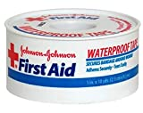 Johnson & Johnson First Aid Waterproof Tape (1-Inch x 10-Yards) Pack of 4