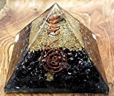 Black Tourmaline Orgone Pyramid Positive Energy Generator - Comes With Healing Stone/Chakra Stones for Emf Protection - Used as Chakra Pyramid/meditation Pyramid to Bring Peace Into Your Mind