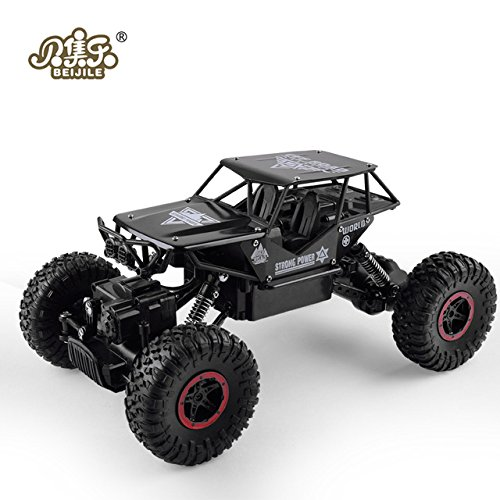 Rc Rally Game - Toy, Play, Game, RC Car 1:18 4DW 2.4GHz Metal Rock Crawlers Rally Climbing Car Double Motors Bigfoot Car Remote Control Model Toys for Boys., Kids, Children