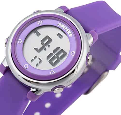 Better line® Digital Kids Watch Band with Hourly Chime, Stopwatch, Daily Alarm & Calendar (Purple)