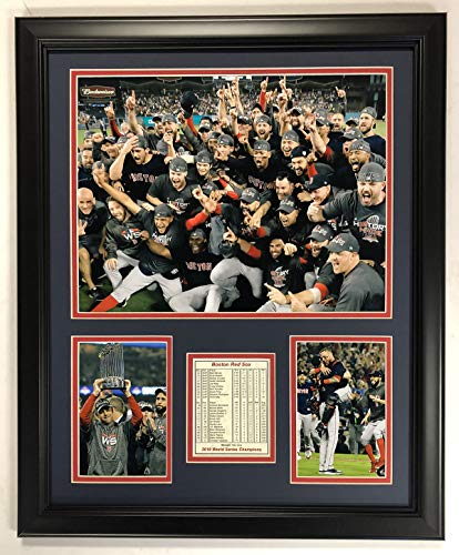 Legends Never Die MLB Boston Red Sox 2018 World Series Champions Framed Photo Collage, Mound, 18 x - Series Framed