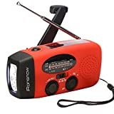 Designed and improved by iRonsnow IS-088U Emergency Solar Hand Crank Self Powered AM/FM/NOAA/WB Weather Radio