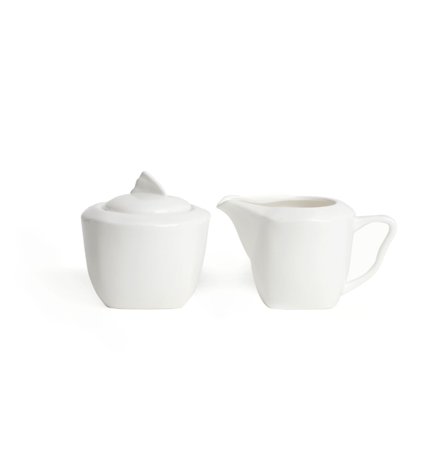 Red Vanilla Wave Covered Sugar Bowl and Creamer Set