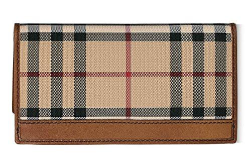 BURBERRY-Mens-Murphy-Beige-Tan-Plaid-Horseferry-Check-Bifold-Card-Holder-Wallet