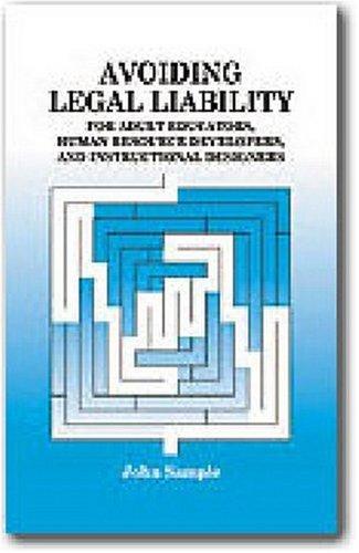 Avoiding Legal Liability for Adult Educators, Human Resource
