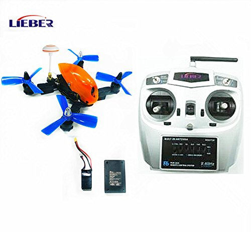 LIEBER 2017 New Arrival 150mm RC Quad Copter 4 Axis Hobby Drone Smallest FPV Racing Drone 5.8G Mini Toy Drone with Remote Controller