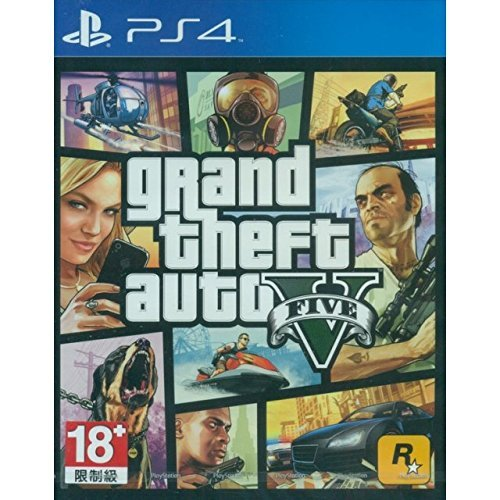 GRAND THEFT AUTO V GTA 5 English, French, Brazilian Portuguese, Korean, Traditional Chinese, Latin American Spanish [Region Free Mutli-language Edition] PS4 Game by Rockstar Games (Playstation Gta 5)