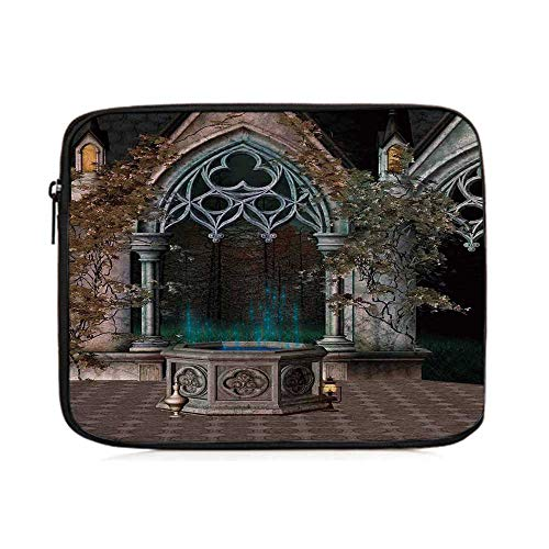 Gothic,Mystical Patio with Enchanted Wishing Well Ivy on Antique Gateway to Magical Forest,One Size