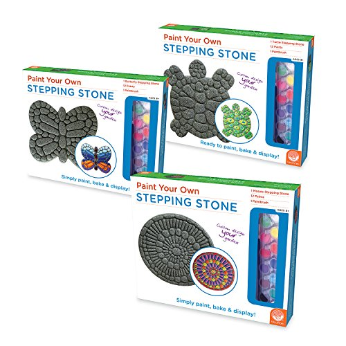 MindWare Paint Your Own Stepping Stones: Set of 3