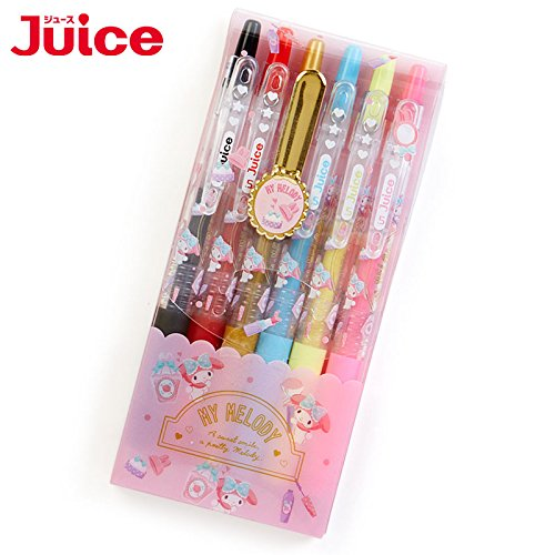 Sanrio My Melody gel ink ballpoint pen JUICE 6 color set Happiness Girl From Japan New (Asian Girls Calendar)