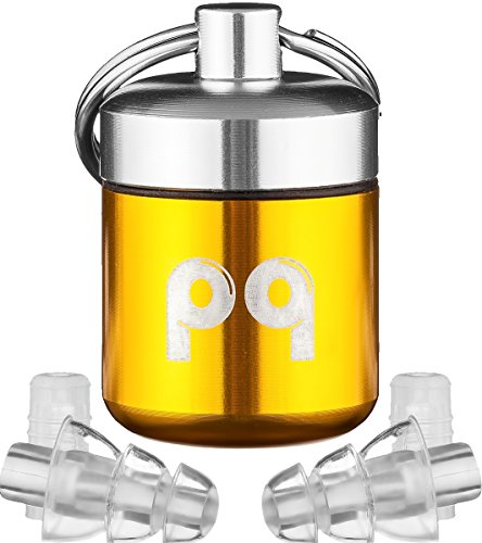 PQ Ear Plugs for Noise Reduction - Protect Your Ears and Mood - Use PQ, Feel Good! (2 Pairs)