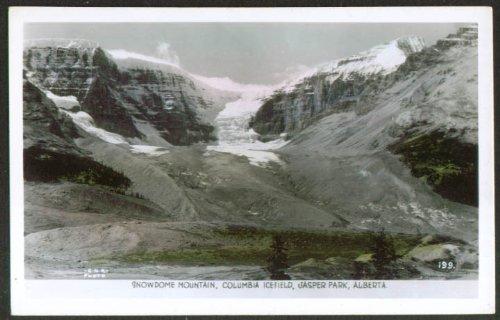 Snowdome Columbia Icefield Jasper Park AB RPPC 1940