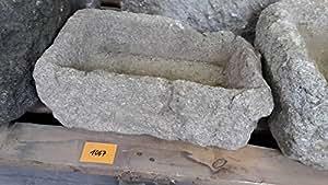 Edad trog de granito de 42cm de largo Brunnen piedra trog–G1067Granito trog lavabo sin gastos de envío