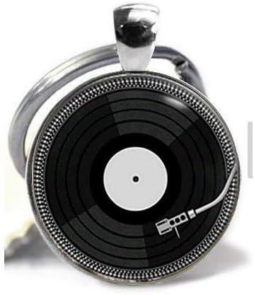 men and women Accessories DJ vinyl necklace Retro Vinyl necklace LP pendant with chain