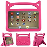Baobeir Fire 7 Case 2015,Fire 7 Case 2017, New Style Kids Shockproof All-Round Protection Cover Case for Amazon Fire 7 Inch Tablet (5th Generation 2015/7th Generation 2017) (Pink)