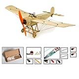 Balsa Wood Airplane Kit Micro 3CH 378mm Fokker Eindecker by DW Hobby; Remote Control Balsa Wood Laser Cut Plane Fokker E for Adults;RC Un-Assembled Flying Model for Fun (K0804)