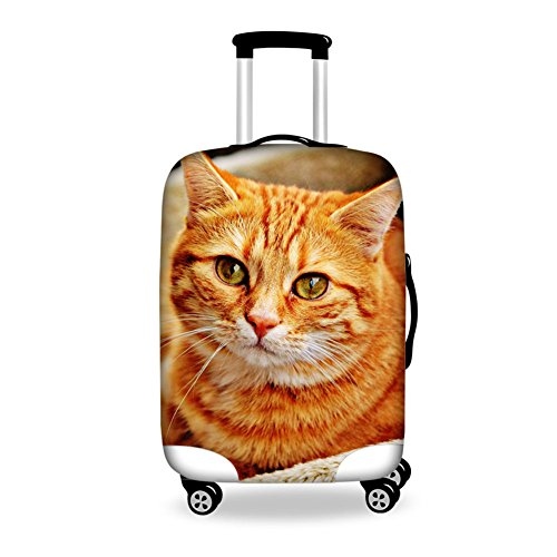 "Travel Luggage Cover Felis Silvestris Catus Protector Fits 18""-28"" Luggage M"