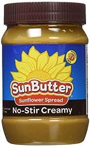 Sunbutter Sunflower Spread No-Stir - Creamy 16 oz (454 grams) Jar