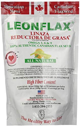 Leonflax Canadian Flaxseed Plus Fat Reducer 18 Oz. 2-PACK