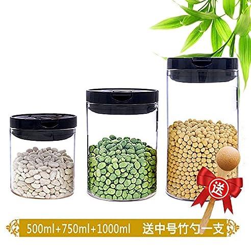 Glas Verschlossenen Dosen Transparente Küche Kanister Flaschen Candy Dosen  Von Milchpulver Körner Von Kaffeebohnen Kaffee Caddy