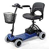Merits Health Products - Roadster - 4-Wheel Scooter - 15''W x 15''D - Blue