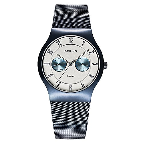 BERING Time 11939-394 Men's Classic Collection Watch with Mesh Band and scratch resistant sapphire crystal. Designed in Denmark.