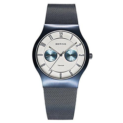 BERING Reloj Analógico para Hombre de Cuarzo con Correa en Acero Inoxidable 11939-394: Amazon.es: Relojes