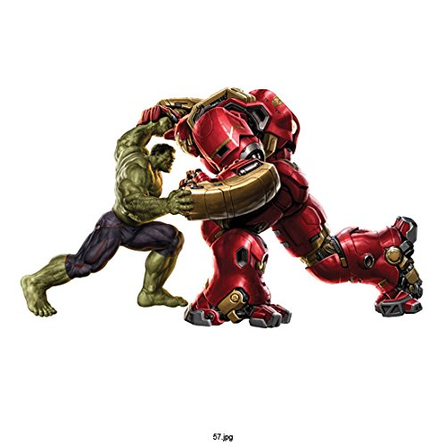 Avengers Age of Ultron, Hulk Head to Head with Iron Hulkbuster on White Background 8 X 10 Inch Photo