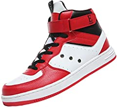 Classic Casual Mid Basketball Shoes Outdoor Sport Trainers Feature: Gender: Men Colour: White,Red,Brown Size:7-11 US Premium quality Season: Wearable in all seasons.Package :1 x A pair of skateboarding shoes.Kindly Note:  Please allow 1-2cm d...