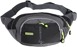 Sport réglables poches sac de taille zippées taille Pouch Waterproof Waist Pack