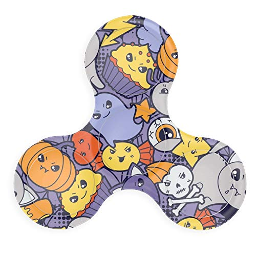 Naughty Pumpkin Printed Fidget Spinner Anxiety Relief Funny Hand Toy Steel Stress Reducer Toys -