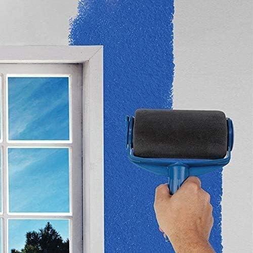 Color : -, Size : - Rouleau /à peinture Pinceau remplissable Kit Maison rouleaux /à peinture multifonction Pinceau Set sans couture Roller avec Pole Extendable
