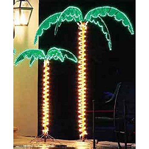 Outdoor lighted palm tree 7 holographic rope light decoration for outdoor lighted palm tree 7 holographic rope light decoration for indoor and outdoor use aloadofball Choice Image