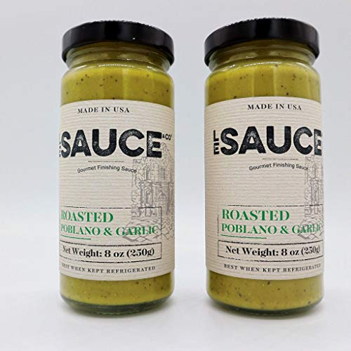 Le Sauce Gourmet Roasted Poblano & Garlic Finishing Sauce, great on chicken, panko pork chops, fish, vegetables, foodie ()