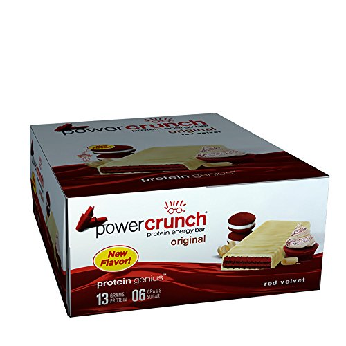 Power Crunch Protein Energy Bar, Red Velvet, 12 ()