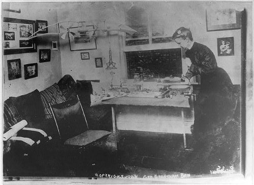 Photo: E. Lillian Todd,1865-1937,self-taught inventor,1st woman to design airplanes by Infinite Photographs