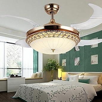 Ventilador de techo invisible, ventilador LED lámpara, moderno ...