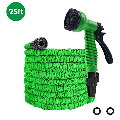 Freehawk Garden Hose, 25ft Water Hose, Expandable Garden Hose with Double Latex Core, Durable Flexible Water Hose (Green)