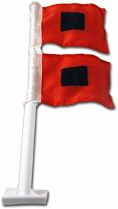 "NCAA Miami Hurricanes""Hurricane Warning""Car Flag"