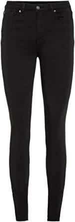 TALLA 32 /L30 (Talla del fabricante: XX-Small). Vero Moda Pantalones Vaqueros Delgados para Mujer