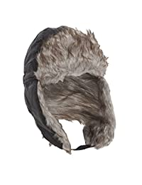 Mens Thermal Winter Trapper/Skiing Hat With Faux Fur
