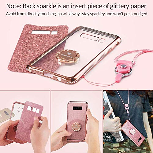 0e1216dc44bd Galaxy Note 8 Case, Glitter Cute Phone Case Girls with - Import It All